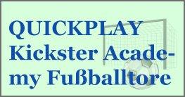 QUICKPLAY Kickster Academy Tragbare Fußballtore, für einen schnellen Einsatz