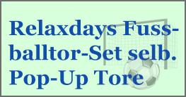 Relaxdays Fußballtor-Set selbstaufstellende Pop-Up Tore, pop up und schon kann es los gehen